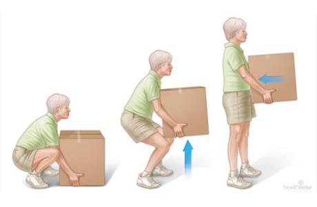 Cómo levantar objetos de manera apropiada para proteger la espalda (subtitulado)