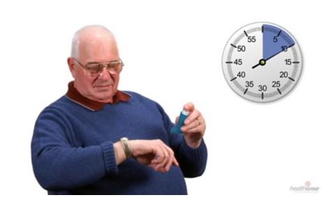 Uso de un inhalador de dosis medida sin un espaciador