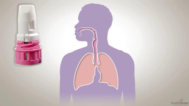 Uso de un inhalador de polvo seco