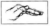 Posición de la mano para el drenaje postural