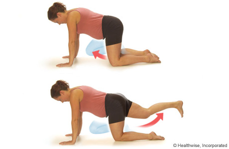 Leg-lift-crawl exercise