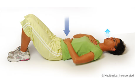 Step 2 of roll breathing