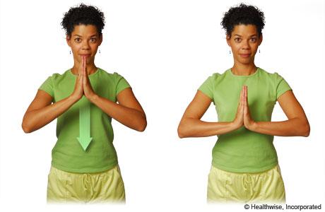 Estiramiento en posición de oración