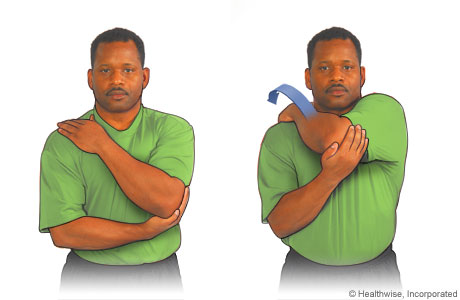 Posterior stretching exercise for the shoulder