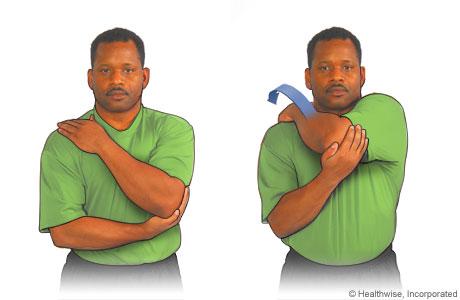 Ejercicio de estiramiento posterior para el hombro