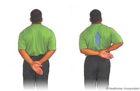 Estiramiento para el hombro por la espalda