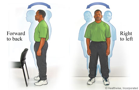 Standing sway exercises to improve balance