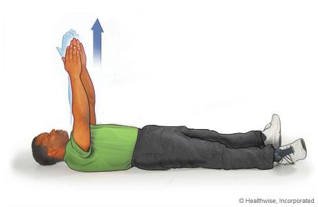 Ejercicio escapular: Extensión de brazos