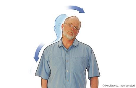Estiramiento de cuello para aliviar la fatiga y los dolores de cuello