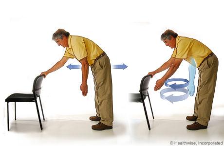 Ejercicio de péndulo para el hombro