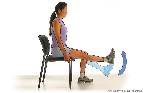 A woman doing a thigh-strengthening exercise