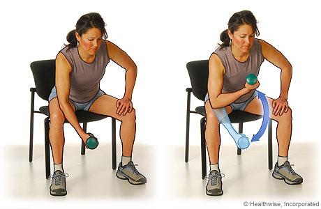 Ejercicio de flexión de bíceps