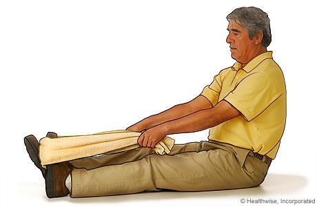 Estiramiento de pantorrilla y fascia plantar