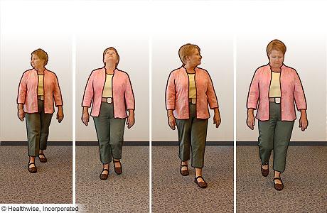 Walking exercises to improve balance