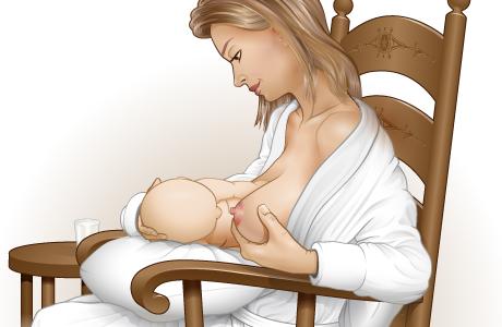 Cómo sostener el seno