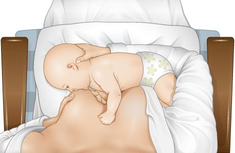 Los labios del bebé se abren hacia afuera