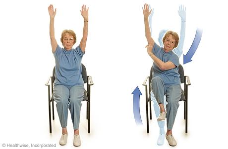 Ejercicio de codo a rodilla