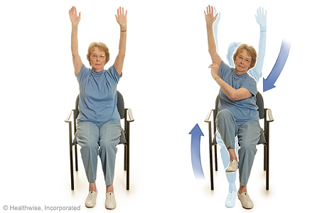 Elbow-to-knee exercise