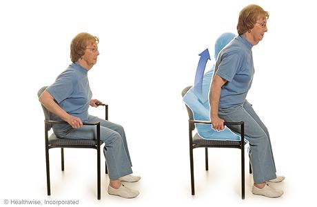 Flexiones con una silla