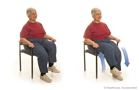 Seated exercise: Marching in plan