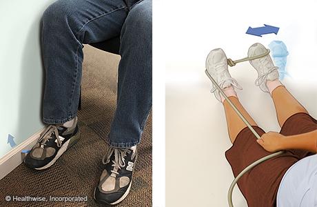 Ejercicios de fortalecimiento de eversión del tobillo para un esguince de tobillo