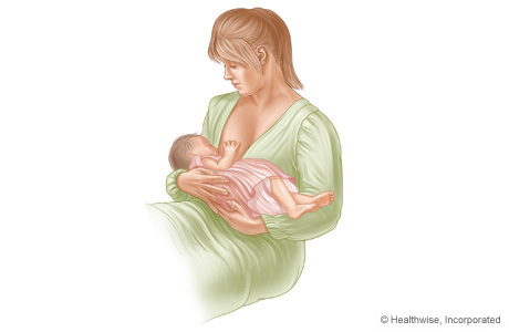Cradle hold for breastfeeding