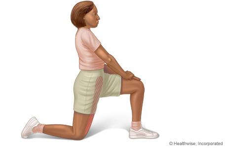 Imagen del estiramiento de los músculos flexores de la cadera