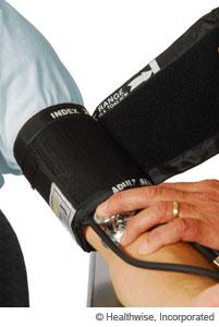 Manguito de un medidor de presión arterial que se ajusta correctamente