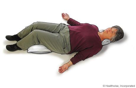 Imagen de cómo adoptar la posición de descanso y relajación