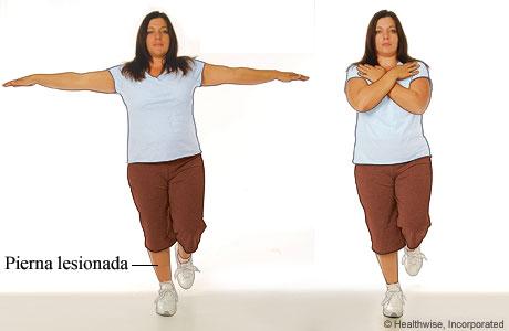Imagen del ejercicio de equilibrio y control para un esguince de tobillo