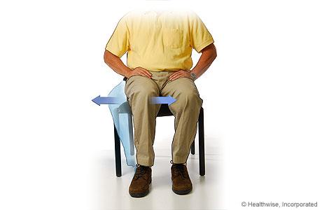 Imagen del ejercicio de amplitud de movimiento de rodilla para un esguince de tobillo