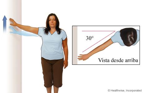 Ejercicio para el hombro: Escalar la pared de costado