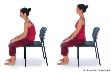 Imagen de cómo hacer el ejercicio de balanceo pélvico sentada