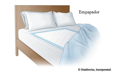 Empapador de gran tamaño que cubre el centro de la cama