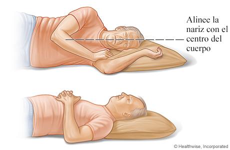 Posiciones seguras para el cuello durante el sueño