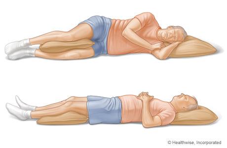 Imagen de posiciones para dormir para personas con dolor en la parte baja de la espalda
