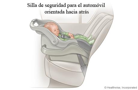 Bebé en una silla de seguridad para automóvil solo para bebés orientada hacia atrás