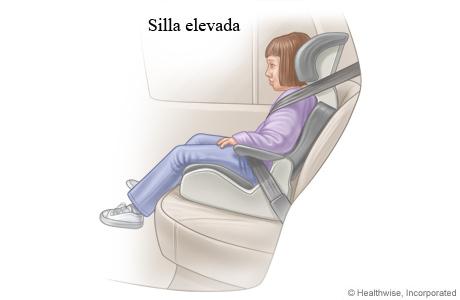 Un niño pequeño en una silla elevada